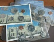 1965-1987 Canadian 6 Coin Bunc Year Sets In Original Sealed Packs