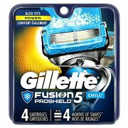 Gillette Fusion5 Proshield Chill Menand039s Razor Blade Refills - 4 Count - 10 Packs