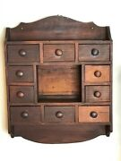 Wooden Hanging Spice Racks With Multiple Drawers