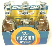 Vintage Acl Pop Soda Bottles Carrier And 6 Bottles 12oz Mission Of Ford City, Pa