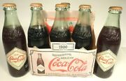 Vintage Acl Pop Soda Bottles Carrier And 6 Bottles 8.5 Oz Coca-cola 1900's Style