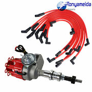 Small Cap Hei Distributor And Spark Plug Wires Red For Small Block Ford 289-302