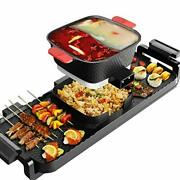 Electric Grill Indoor Hot Pot, 4l Electric Barbecue Stove 02 Yuanyang