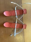 Vintage Kids Toys Mini Red Plastic Ski And039s 1960andrsquos Retro Not For Use Hong Kong