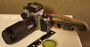 Vintage Asahi Pentax Sv 35 Mm Complete Camera And Kit With 1966 Warranty, Used
