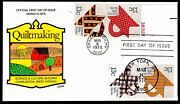 Us 1745-1748-b Fdc 13c Quiltmaking. 1st Collins Hp Cachet Cv 550 Rare