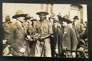 1924 World Scout Jamboree. Two Top Organizers Posing With Leader Postcard