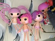 Vintage Custom 2009 Bundle Lot Of 4 Lalaloopsy Dolls 14 As Is In The Picture