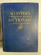 Websters Comprehensive Reference Dictionary And Encyclopedia - 1953 Vintage B1