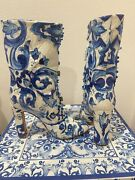Dolce And Gabbana Short Boots Very Fancy 1795 Nwb Fancy And Rare