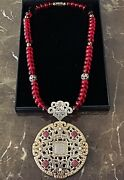 John Hardy Two-tone Resin Cultured Pearl And Diamond Pendant Necklacemsrp7500