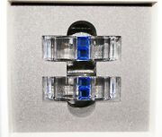 Rainbow Napking Ring Sapphire Crystal Blue Set Of Two New