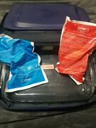 Pyrex Portables Casserole Carrier Bag Insulated Hot Cold Blue Straps 12 X 16