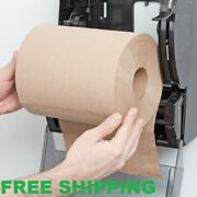 12 Case 8 Standard Duty Brown Towel Paper Commercial Dispenser Kraft Roll 600and039