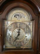 Sligh Grandfather Clock Model 0987-1-an | Mint Condition Cherry Wide Moonphase