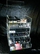 Large Acrylic Makeup Organizer Drawers Stackable Expandable Cosmetic Storage Box