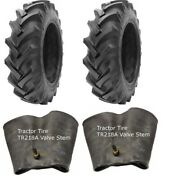 2 New Tractor Tires And 2 Tubes 12.4 38 Gtk R1 8 Ply Tubetype 12.4-38 12.4x38 Fsc