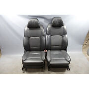 2010-2013 Bmw F01 7-series F10 Front Comfort Climate Seat Pair Black Leather Oem