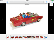 Rare 1967 Vtg Tin Toy Asc The Monkees's Monkee-mobile With Box Works Great