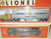 ✅lionel Frisco Flat Car W/ Campbell Express Tractor And Trailer 6-52147 O Gauge