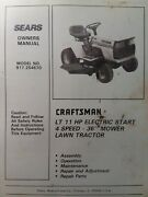 Sears Craftsman Lt 11 Lawn Tractor 4spand 36 Mower Owner And Parts Manual 917.254670