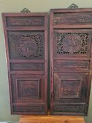 Chinese Carved Wood Architectural Pierced Panels Temple