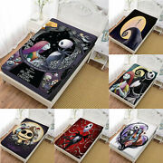 The Nightmare Before Christmas 3pcs Bed Fitted Sheet And Pillowcase Bedding Sets