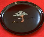 Classic Couroc Of Monterey Cypress Tree Plate 1966 Designed By Sfb Morse 10 1/2