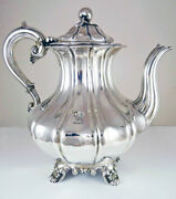 Antique English Sterling Silver Coffee Pot By Bernard And Sons Hallmarked 1832