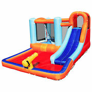 Hoovy Inflatable Outdoor Kids Bounce House Trampoline Water Park Slide W/ Blower