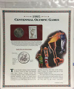 1995 Proof Half Dollar Centennial Olympics Game Postal Commemorative Coinand Stamp