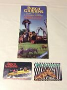 2001busch Gardens Tampa Amusement Theme Park Brochure Guide Map And 2 Tickets