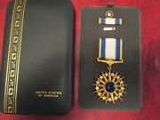 Us Air Force Distinguished Service Medal Cased Set With Rosette Lapel Pin Dsm
