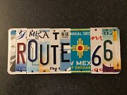 Route 66 License Plate Sign Real License Plate Letters From States Rt 66 Travel