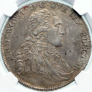 1801 German States - Saxony Frederick Augustus Old Silver Taler Coin Ngc I87735