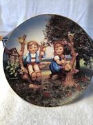 M.j. Hummel Plate Apple Tree Boy And Girl 1991 Limited Edition Plate No. Ml643