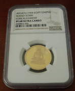 Egypt 1994 Gold 50 Pounds Ngc Pr68uc Seated Scribe Coin Alignment