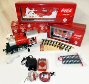 Coccacola Christmas Holiday Train Starter Set Lgb Speed Controller And Transformer