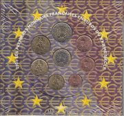 Euro France Kms 2001 Currency Coin Set Original Packaging Unopened Coin Set