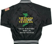 Uscgc Barataria Whec-381 Vietnam1-sided Satin Jacket Back Only Embroidered