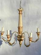 Pretty 5-light Italian Chandelier From The Late 19th Century 19¼