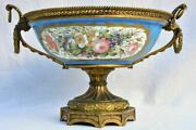 Large 19th Century French Porcelain And Bronze Bowl - Ghdedreux 14andfrac12