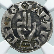1200ad France Archbishopric Besancon Old Silver Denier Medieval Ngc Coin I87758
