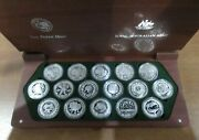 2000 Sydney Olympic Silver Proof 16 Coin Collection From Ram .999 Ag Boxedandcoa