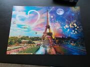 Buffalo Jigsaw Puzzles 300 Large Piece Night And Day Paris Love With Poster