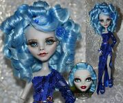 Ooak Monster High Ghoulia Yelps Repaint Restyle Handmade Dress Doll By Olia