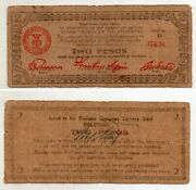 Philippine S486d 1943 Mindanao 2 Pesos Counter Signed On Back By Cuerpo Rare
