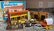 Weebles West 1974 Play Set Hasbro + Box Romper Room Cowboy Cowgirl Dog Used