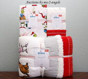 New Pottery Barn Kids Twin Quilt + Sham + Sheet Set Christmas And Max