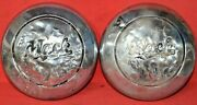 1940and039s 50and039s 60and039s Mack Truck Center Caps Dog Dish Poverty Hub Caps Hubcaps Pair